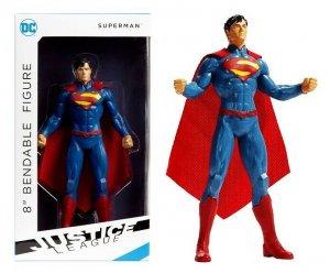 DC Justice League Superman 8 Bendable Figure - New!