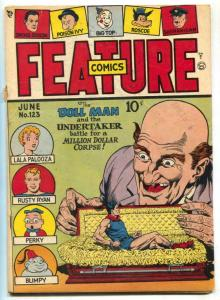 Feature Comics #123 1948- DOLL MAN-  Undertaker VG/F