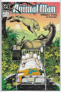 Animal Man (vol. 1, 1988) #27 VF Milligan/Truog, Bolland cover