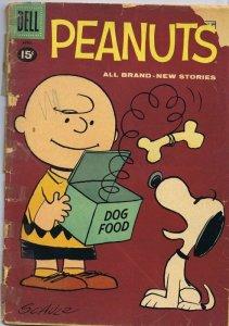 Peanuts #8 ORIGINAL Vintage 1961 Dell Comics Charlie Brown Snoopy