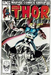 Thor #334 (1966 v1) Avengers VF+