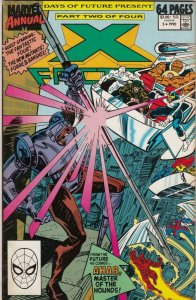 X-FACTOR Annual #5, NM-, Days of Future Present, Ahab, 1990, FF, New Mutants