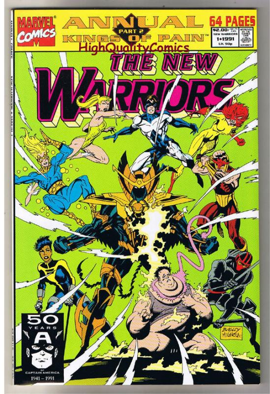 NEW WARRIORS 1 Annual, NM, Mike Mignola, Nova, 1990, more in store