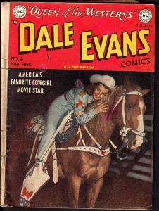 DALE EVANS COMICS #4-ALEX TOTH ART-1949-PHOTO COVER VG