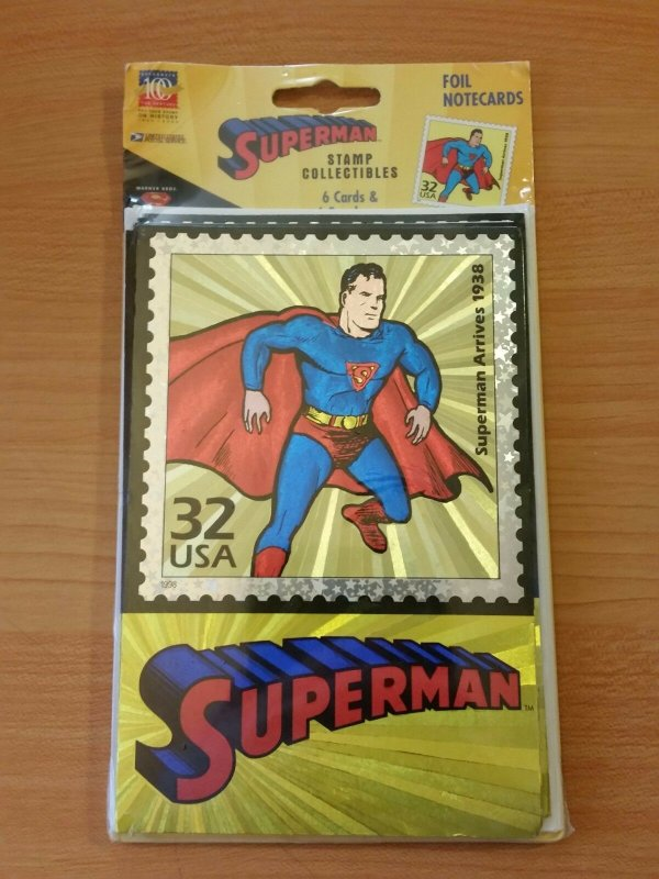 US Post Office Stamp Collectibles Superman Foil Note Cards Celebrate the Century