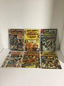 Sgt. Fury And His Howling Commandos 15 16 17 18 19 20 Gd-Vg 2.0-4.0 Silver Age