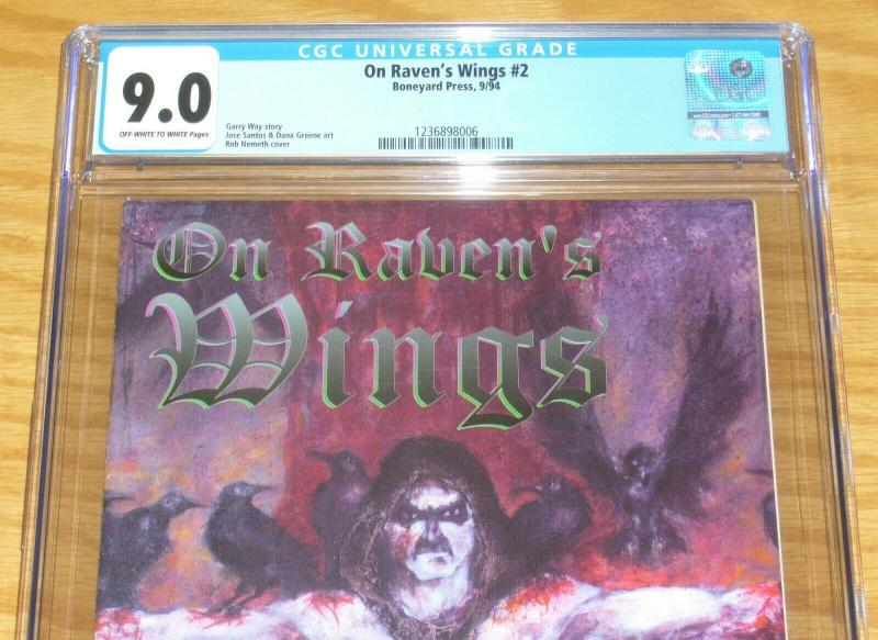On Raven's Wings #2 CGC 9.0 early work by gerard way (umbrella academy creator)