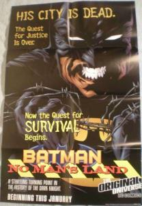 BATMAN NO MAN'S LAND Promo poster, 1996, Unused, more in our store