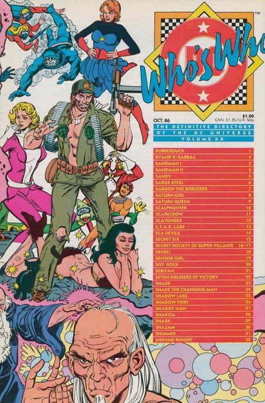 Who's Who: The Definitive Directory of the DC Universe #20 VF/NM; DC | save on s