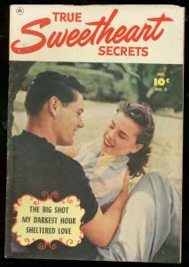 TRUE SWEETHEART SECRETS #5 1951-FAWCETT PHOTO COVER VG/FN