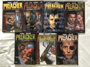 PREACHER - SEVEN (7) TRADE PAPERBACK LOT - #3, 4, 5, 6, 7, 8, & 9 - VERTIGO