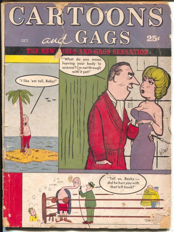 Cartoons and Gags 10/1964-Marvel-jokes-Trogdon-Lutner-deCarlo-FR