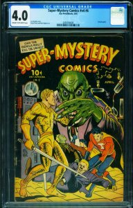 Super-Mystery Vol. 4 #6 CGC 4.0 1945 Wild HORROR cover- 2050056006