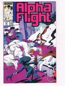 Alpha Flight #54 VF Marvel Comics Comic Book Jan 1988 DE23