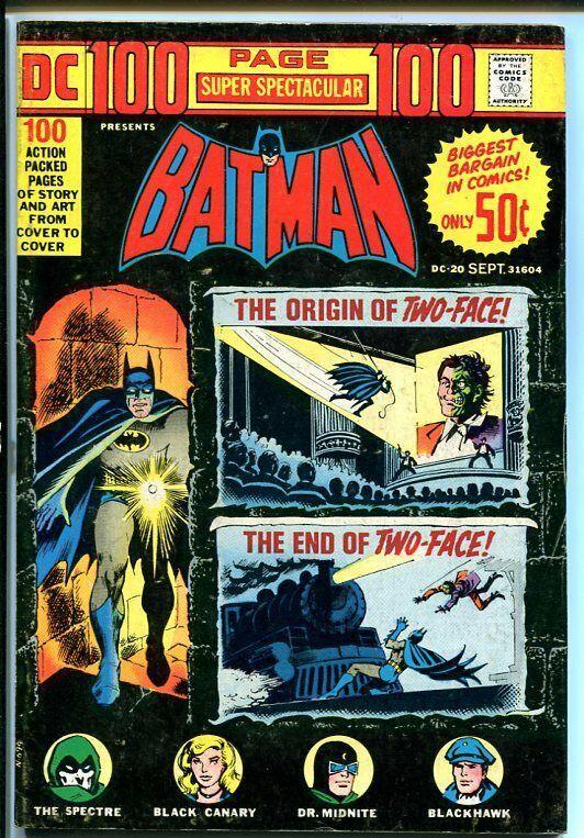 DC 100-PAGE SUPER SPECTACULAR #20-BATMAN-1973! VG