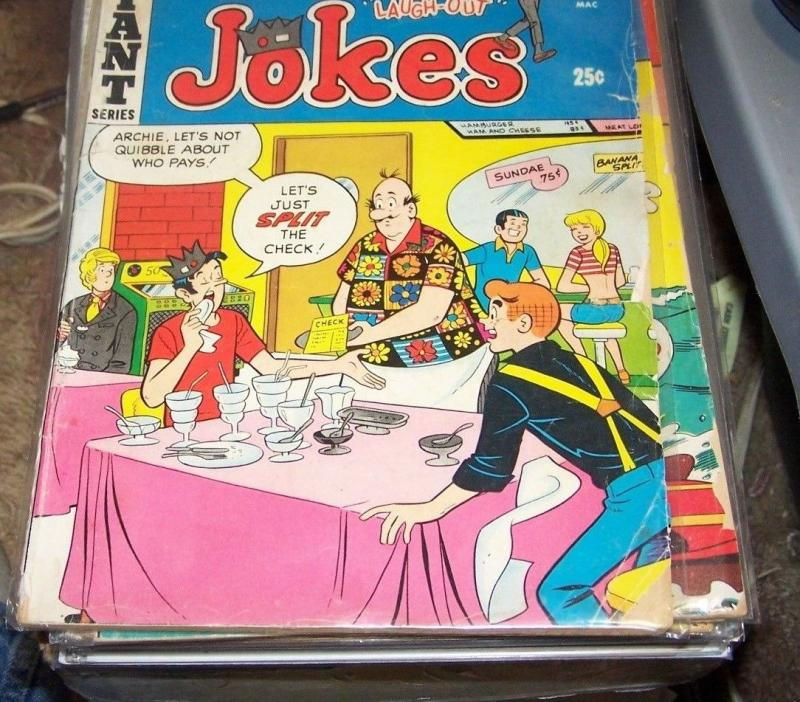 JUGHEADS JOKES # 21 -1970 ARCHIE COMICS BETTY+VERONICA+REGGIE+POPS riverdale tv