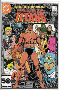 TALES OF THE TEEN TITANS #57, VF/NM, Cyborg, Fearsome, DC 1985  more DC in store