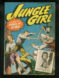 JUNGLE GIRL #1-WILD COVER-GOOD GIRL ART-GOLDEN AGE FN
