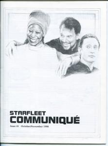 STARFLEET COMMUNIQUE #41-1990-STAR TREK FANZIN-8 1/4 X 11-nm