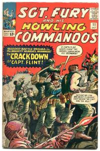 SGT FURY AND HIS HOWLING COMMANDOS #11-1964-MARVEL-KIRBY ART-WWII-fn