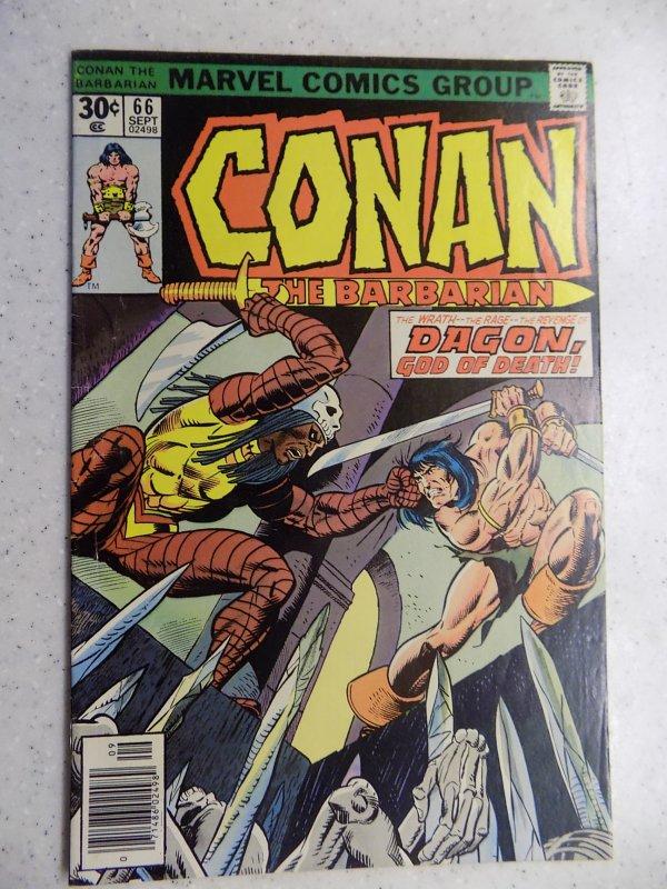 CONAN THE BARBARIAN # 66 MARVEL SAVAGE SWORD FANTASY