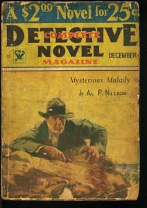 COMPLETE DETECTIVE NOVEL 1933 DEC-PARKHURST COVER G-