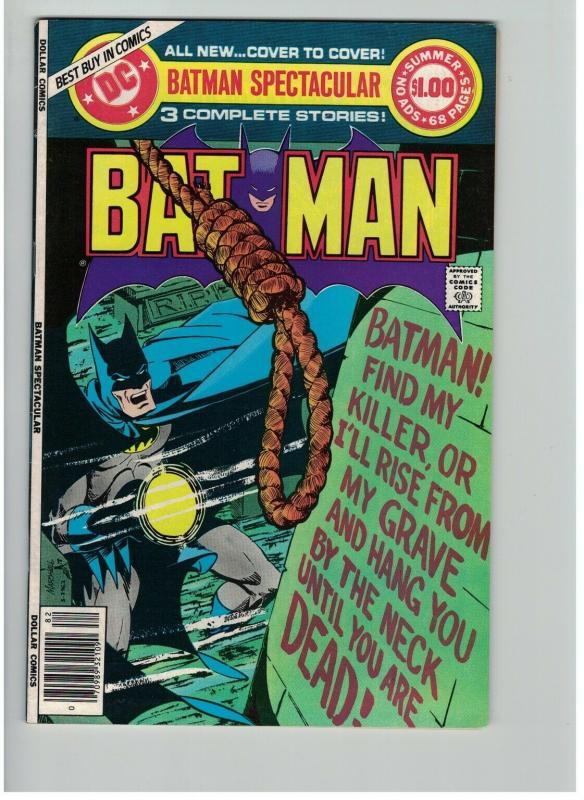 BATMAN SPECTACULAR (DC SPECIAL) 15 VF Summer 1978