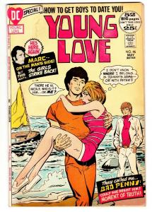 YOUNG LOVE #95-beach cover comic book GREAT ISSUE-DC ROMANCE