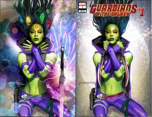 GUARDIANS OF THE GALAXY 1 2019 GREG HORN COVER TRADE DRESS & VIRGIN VARIANT SET
