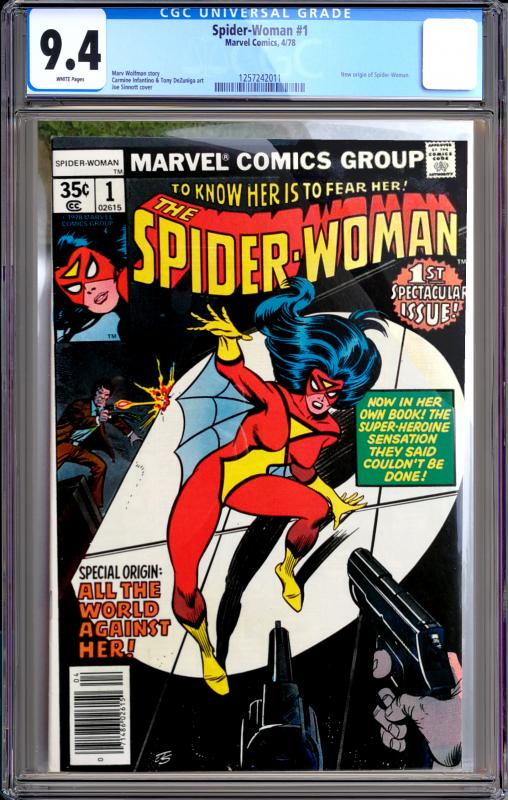 Spider-Woman #1 CGC Graded 9.4 New Origin of Spider-Woman