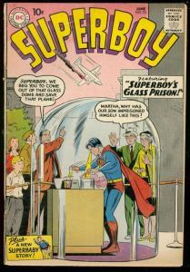 SUPERBOY COMICS #73 1959-DC COMICS-PLANE CRASH COVER G/VG