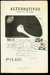 Alternatives Fanzine #2 1972- Fandom review zine VG