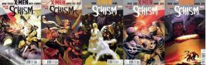 X MEN SCHISM (2011) 1A-5A  COMPLETE !