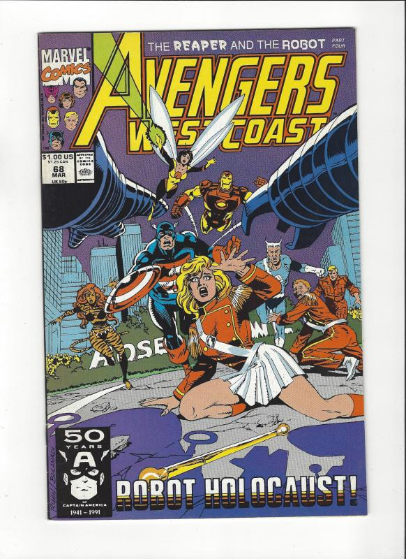 Avengers West Coast #68 The Reaper NM