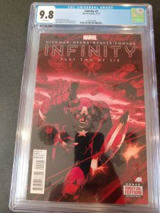 INFINITY #2 CGC 9.8 WHITE PAGES