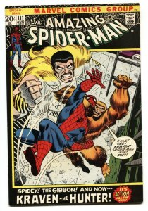 Amazing Spider-Man #111 comic book 1972- Kraven-Marvel VF