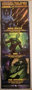 INFINITE CRISIS AFTERMATH Promo poster, 11x34, Unused, more Promos in store, GL