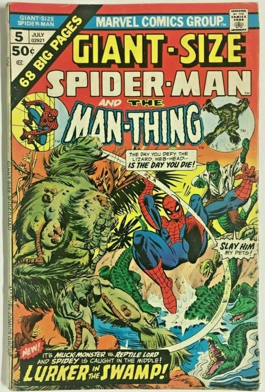 GIANT-SIZE SPIDER-MAN#5 VG 1975 MARVEL BRONZE AGE COMICS
