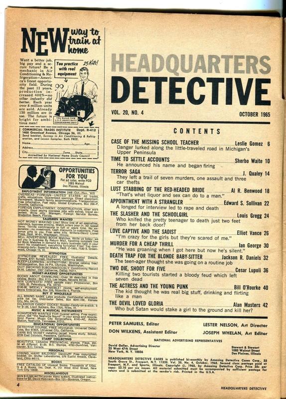Headquarters Detective 10/1965-murder-stangulation-sadism-love captive-G