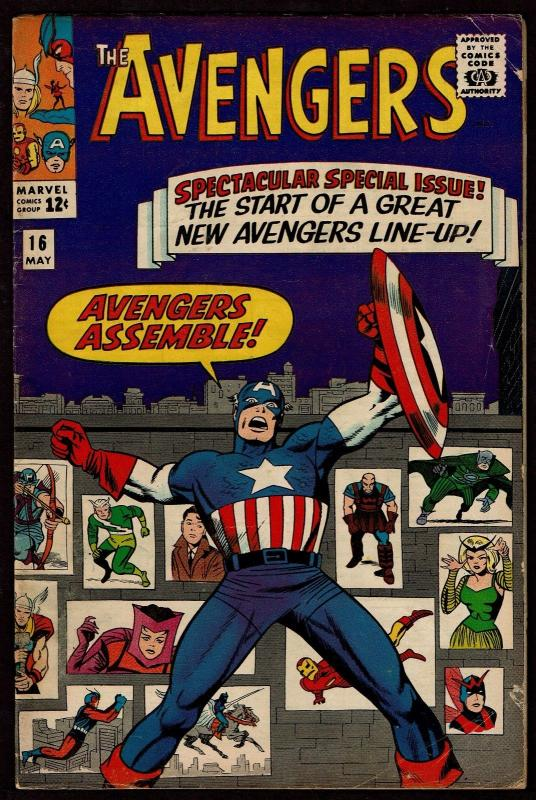 The Avengers #16 (May 1965, Marvel) VG