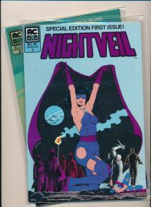 AC Comics Special Edition NIGHTVEIL #1-2 Scarlet Scorpion VF/NM   (PF639)