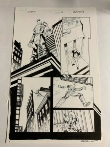 Deadpool 2013 Original Art Page 5 Issue 11 Mike Hawthorne Batman Joke 1/3 Splash