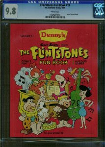 FLINTSTONES FUN BOOK  #11 CGC 9.8 ***HIGHEST GRADED*** Rare Denny's Promo 1989