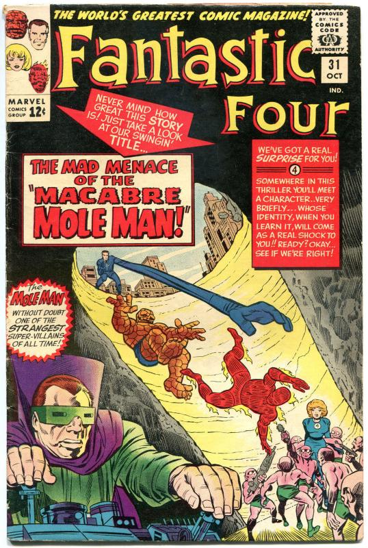 FANTASTIC FOUR #31, VG/FN, Avengers, Jack Kirby, 1961, more FF in store, QXT