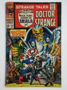 STRANGE TALES #161 (Marvel,10/1967)  POOR/FAIR(PR/FR) Steranko,SHIELD,Dr.Strange