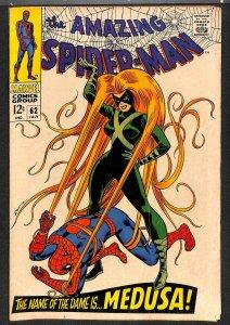 Amazing Spider-Man #62 VG/FN 5.0 Medusa! Marvel Comics Spiderman