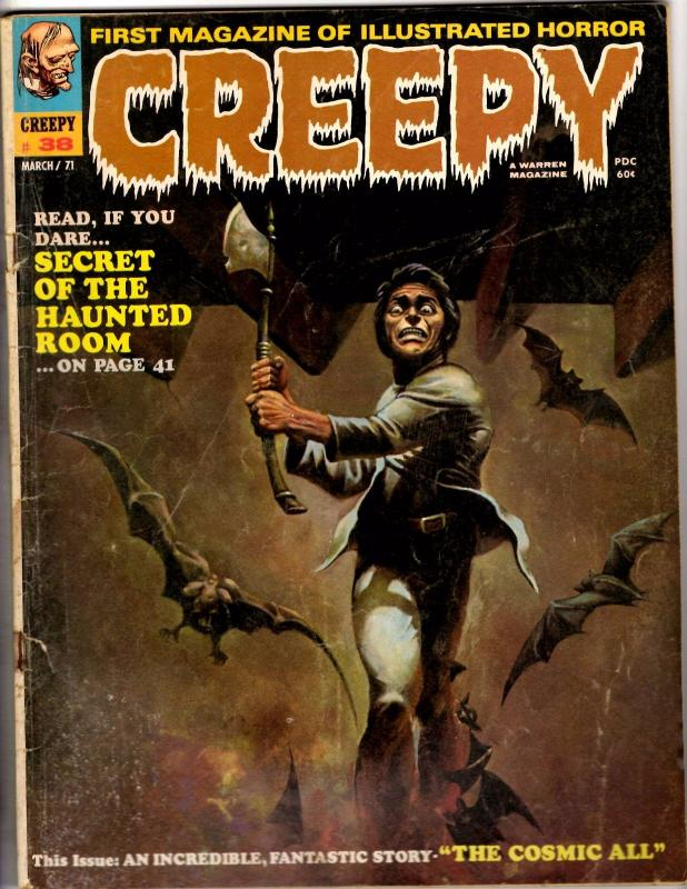 Lot Of 2 Creepy Comic Book Magazines # 38 & 43 Horror Fear Scary Warren VG YY1