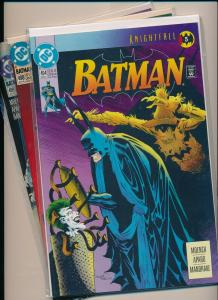 DC LOT of 3~ BATMAN KNIGHTFALL #494,498-499  NM (PF846)