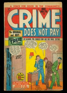 Crime Does Not Pay #70 GD 2.0