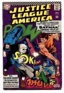 JUSTICE LEAGUE OF AMERICA #46-Solomon Grundy 1966-BATMAN/SUPERMAN